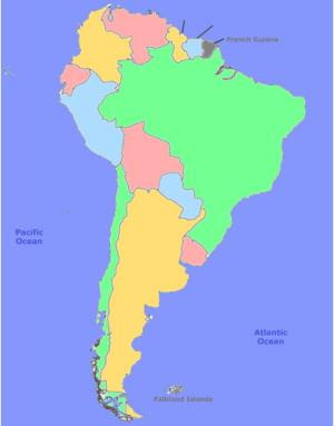 Capitals of South America. Sporcle