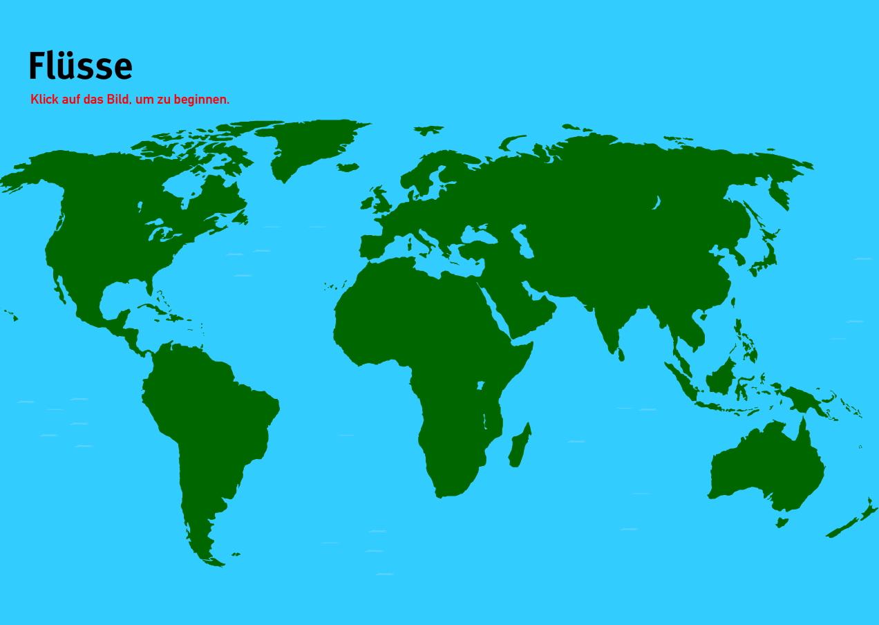 Flüsse der Welt. Welt-Quiz Geographie