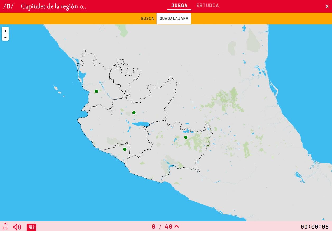 Capitais da rexión oeste de México