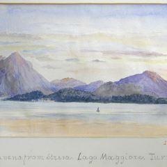 Vista de Laveno, Lago Maggiore (Italia)