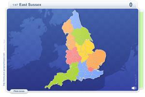 Comtés d'Angleterre. Jeux géographiques