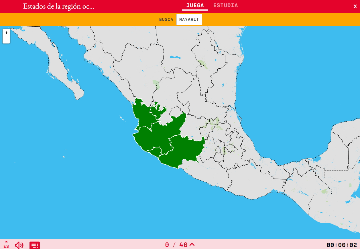 Interactive map. Where is it? States of the region western ...