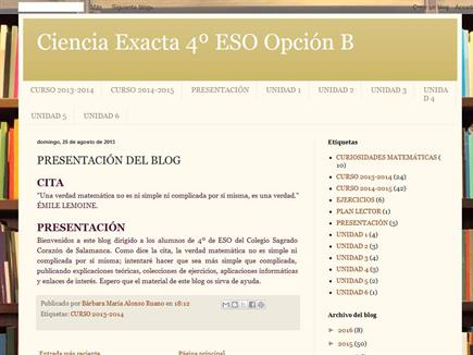 CIENCIA EXACTA 4º ESO ACADÉMICAS
