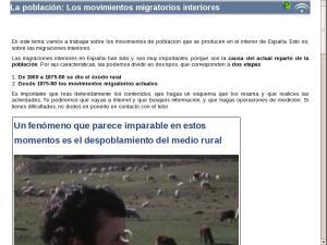 La población: Los movimientos migratorios interiores