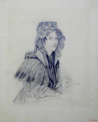 Retrato de mujer con mantilla