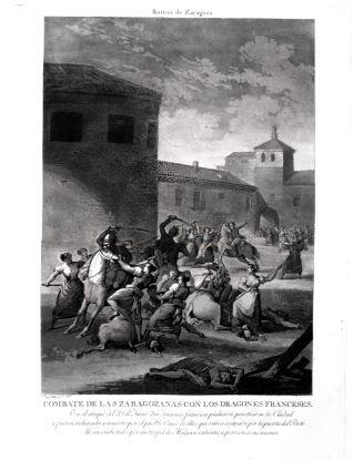 Combate de las zaragozanas contra los dragones franceses