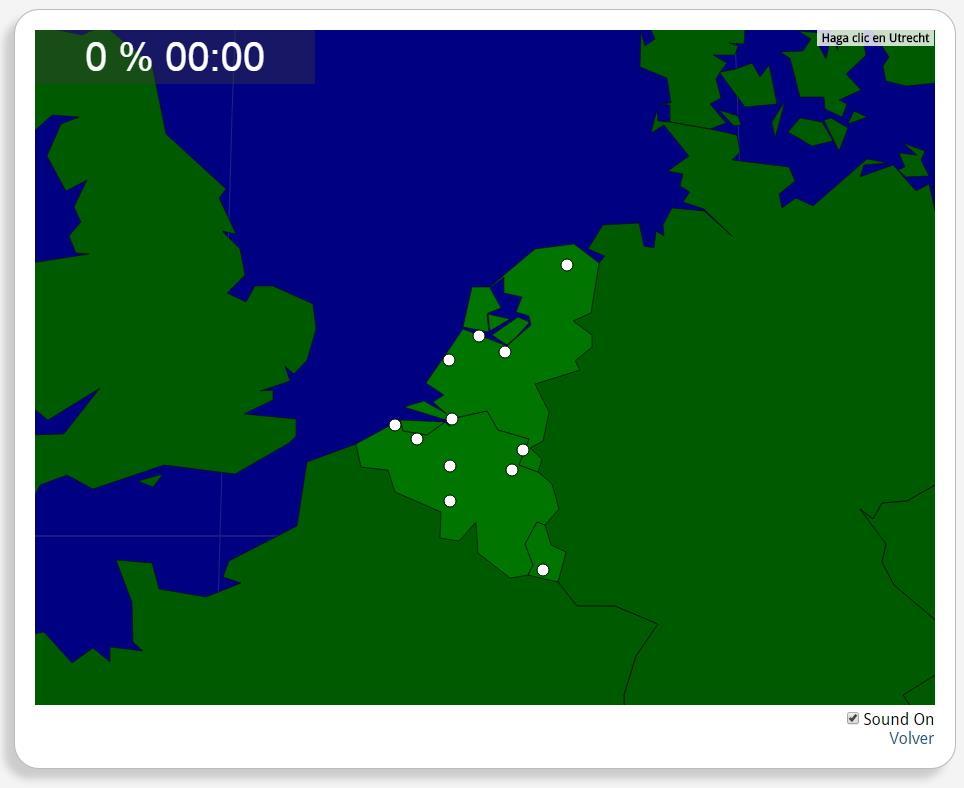 Benelux: Steden. Seterra