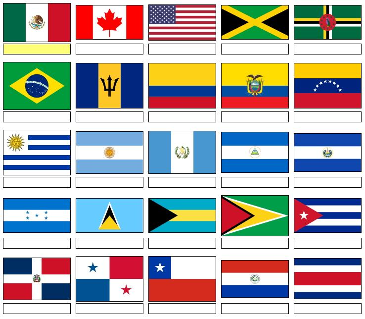 Flags of North and South America  (JetPunk)