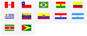 Banderas de América del Sur. Seterra