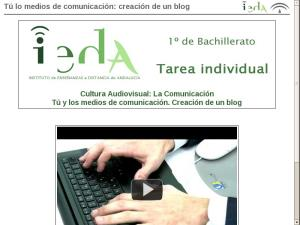 Tú lo medios de comunicación: creación de un blog