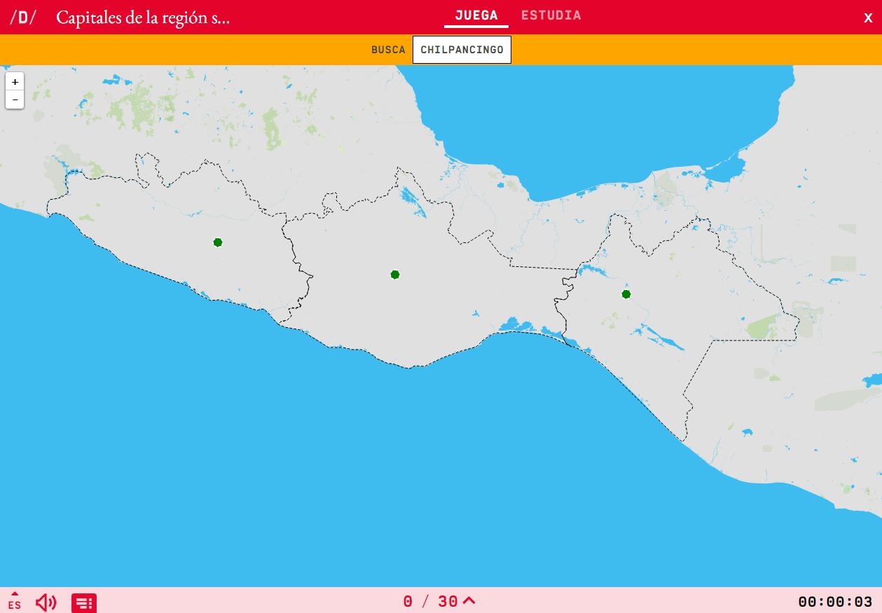 Capitais da rexión suroeste de México