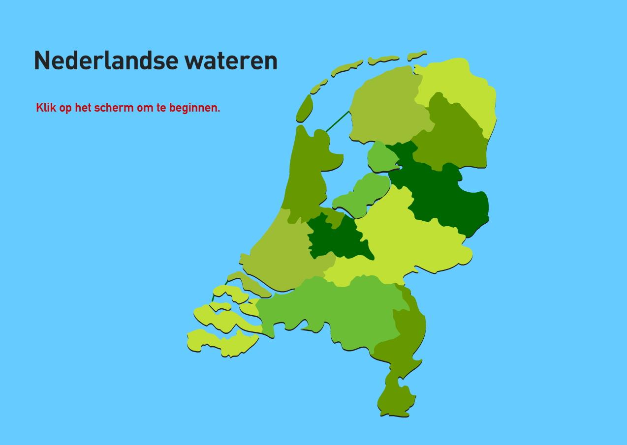 Nederlandse wateren. Topografie van Nederland