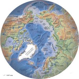 Mapa de la flora y la fauna del Ártico. GRID-Arendal