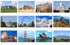 Picture of world landmarks (JetPunk)