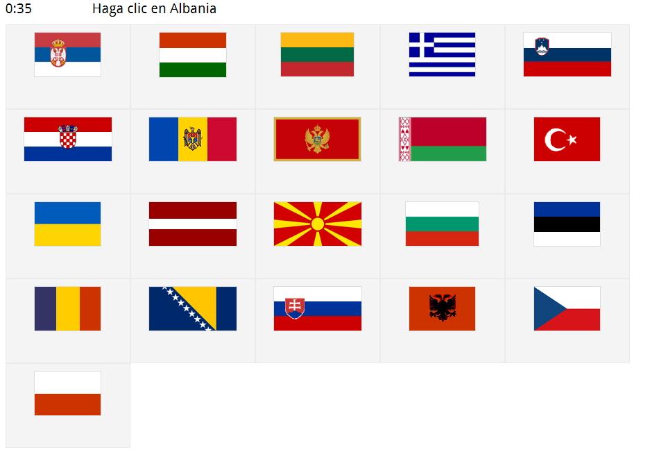 Banderas de Europa del Este. Seterra