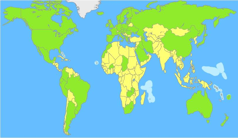 Countries of the world map (JetPunk)