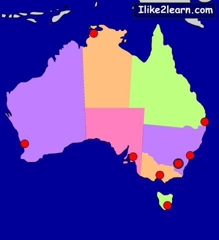 States, territories and capitals of Australia. Ilike2learn