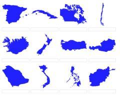 Formas de países del mundo 2 (JetPunk)