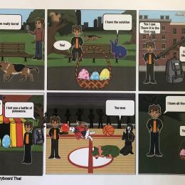 Easter Comic - STORYBOARDTHAT