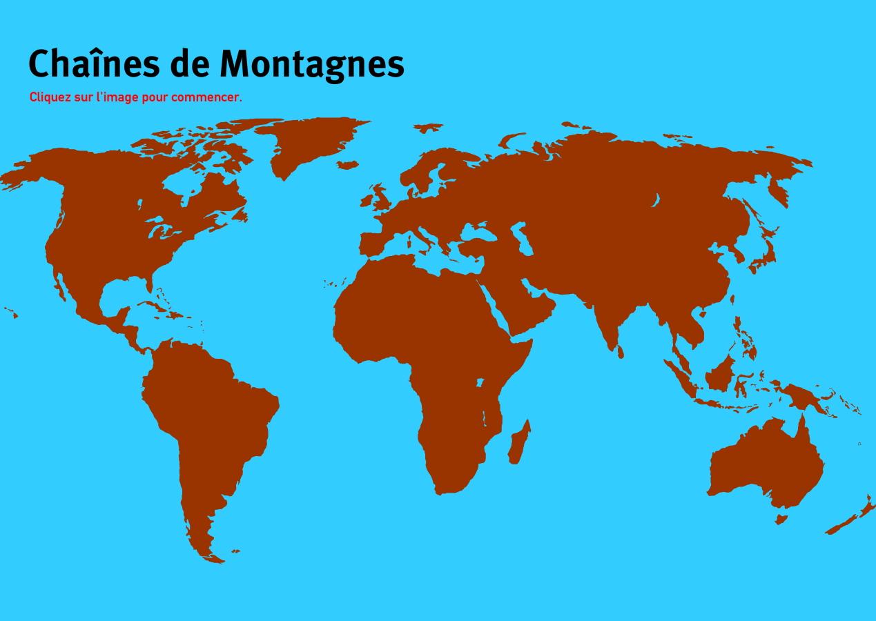Chaînes de montagnes du Monde. Jeux de Géographie