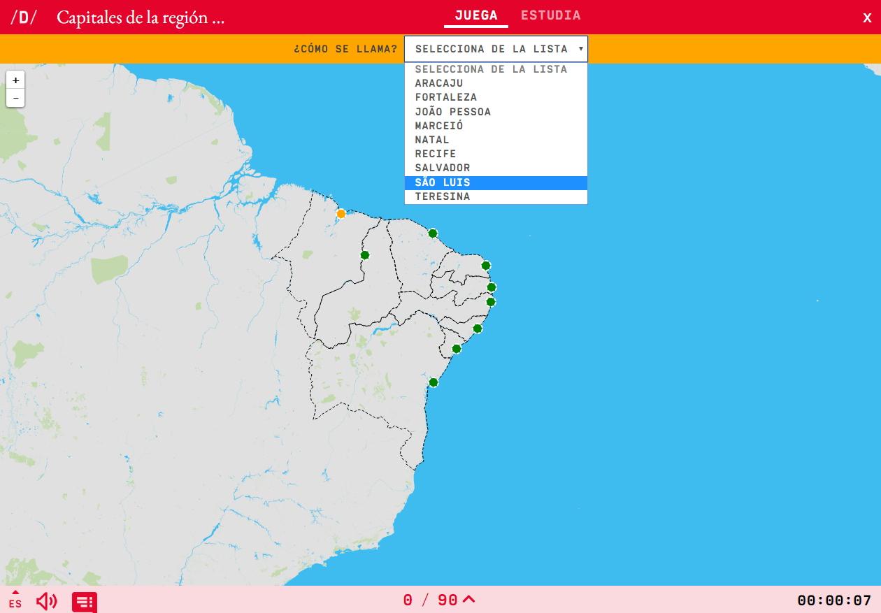 Capitales de la región nordeste de Brasil