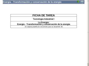 Energía - Transformación y conservación de la energía