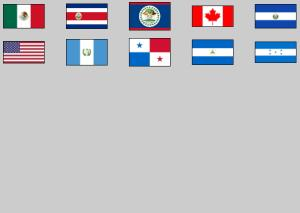 Flags of North and Central America. Lizard Point