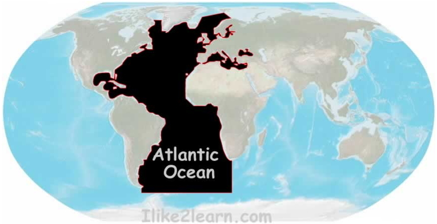 Seas and gulfs of the Atlantic Ocean. Ilike2learn