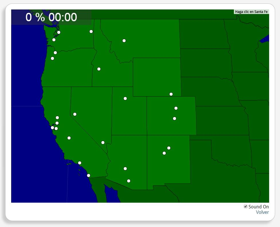 Estados Unidos: Ciudades de la Costa Oeste. Seterra