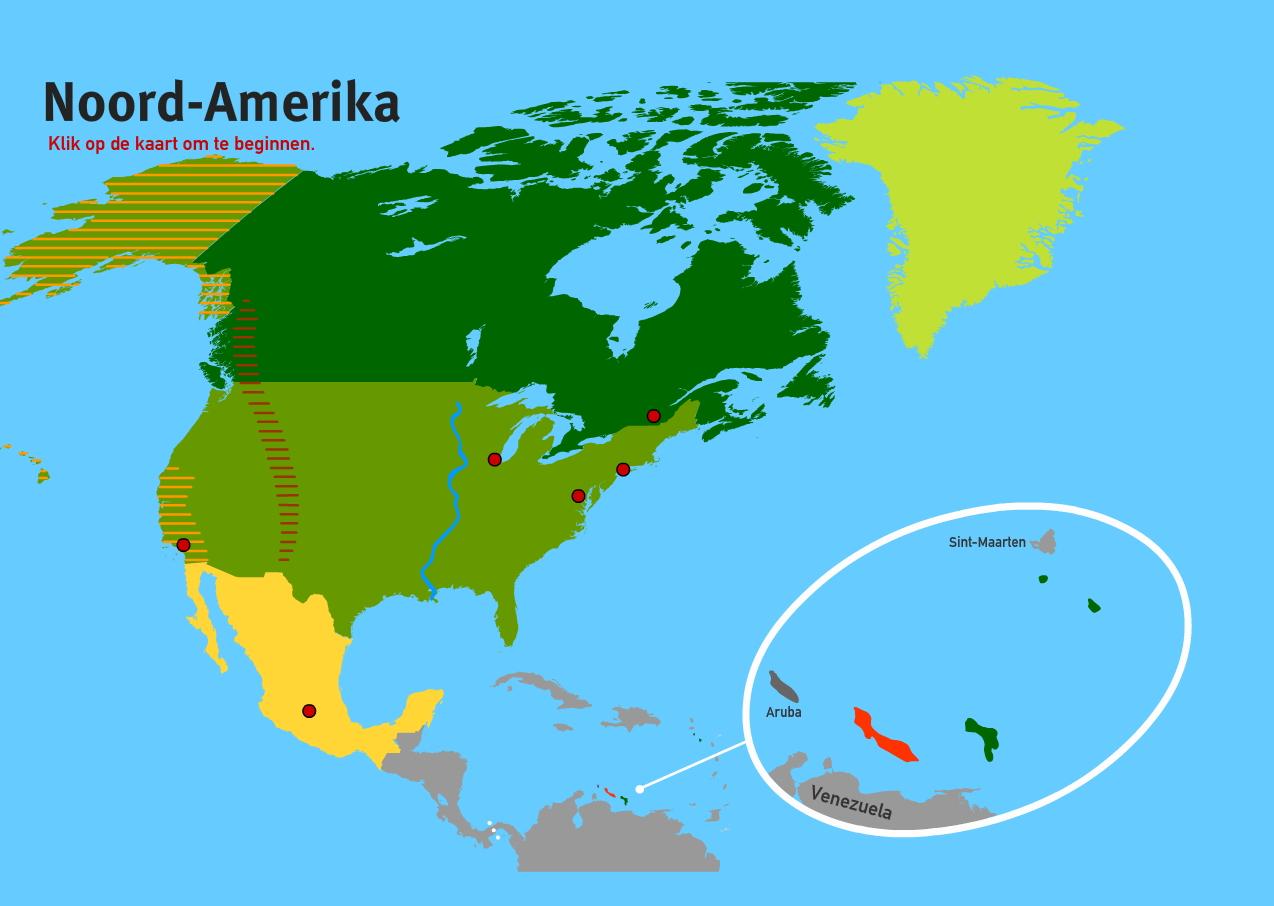 Noord-Amerika. Topo VMBO