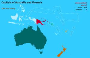 Capitals of Oceania. World Geography Games