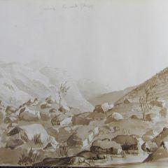 Vista de las ruinas de Rossberg (Suiza)