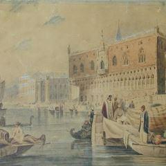 Escena en el Gran Canal de Venecia