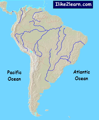 Physical features of South America. Ilike2learn