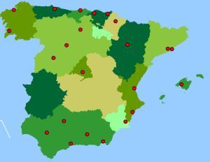 Ciudades de España. Toporopa