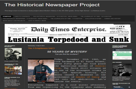 THE HISTORICAL NEWSPAPER PROJECT