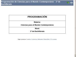 Bachillerato Primer Curso-Programación-Ciencias para el Mundo Contemporáneo