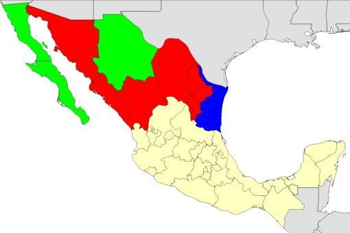 Mexico states map  (JetPunk)