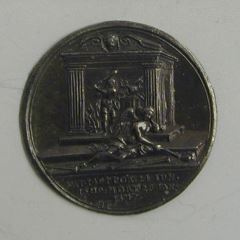 Prueba del reverso de la medalla de Enrique VIII