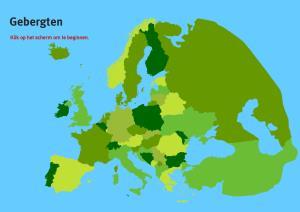 Gebergten van Europa. Topo VMBO