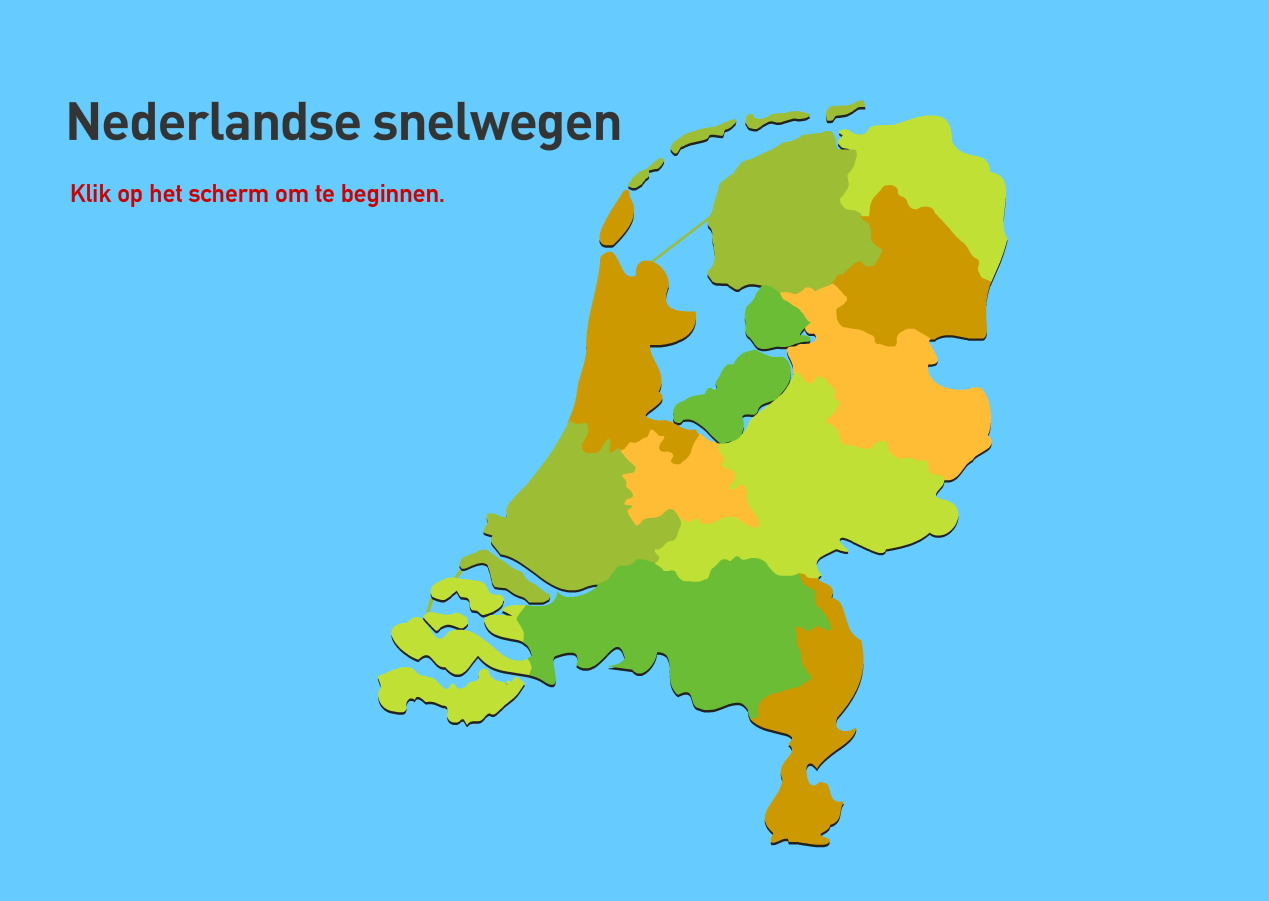 Nederlandse snelwegen. Topografie van Nederland