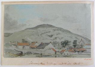 Aldea al pie de una colina, Northumberland (Inglaterra)