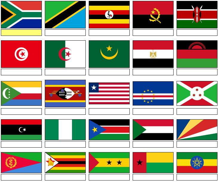 Flags of Africa  (JetPunk)