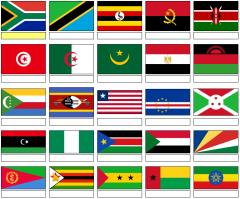 Flags of Africa  (JetPunk)