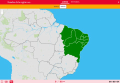 States of the region northeast of Brazil