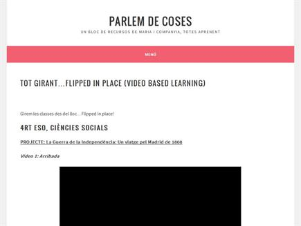 Parlem de coses. Video Based Learning