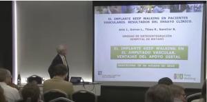 """Dr. Jesús Alós: """" El Implante Keep Walking en pacientes vasculares. Resultados del ensayo clínico"""""""