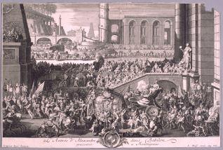 Entrada de Alejandro en Babilonia