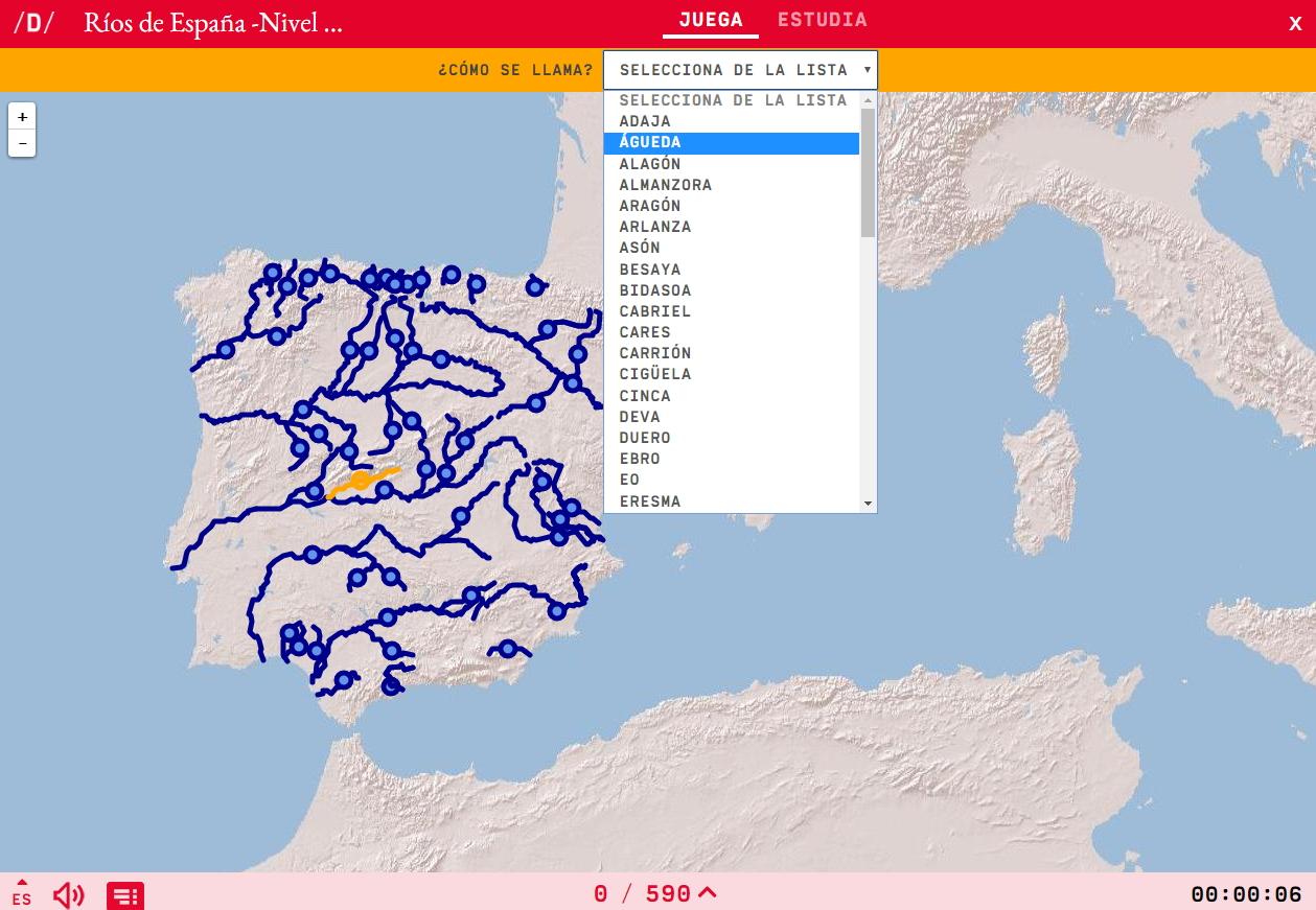 Die flüsse von Spanien -Schwer