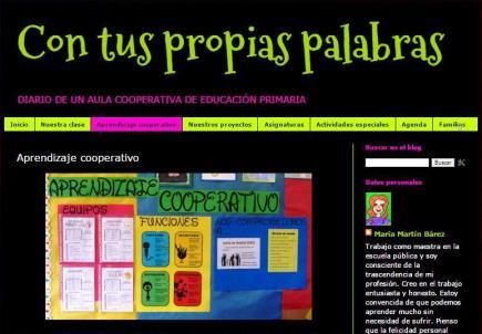 Con tus propias palabras. Diario de un aula cooperativa de Educación Primaria.